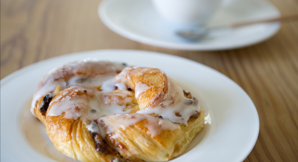 Pastries with fresh coffee