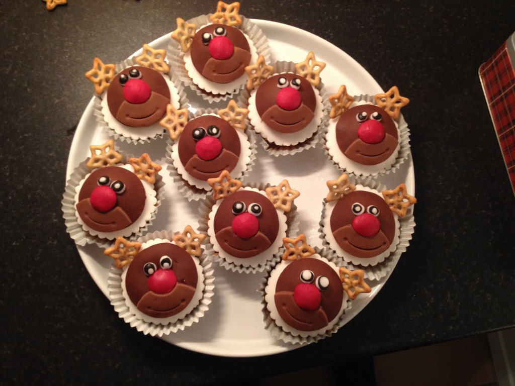 Christmas Rudolph cupcakes
