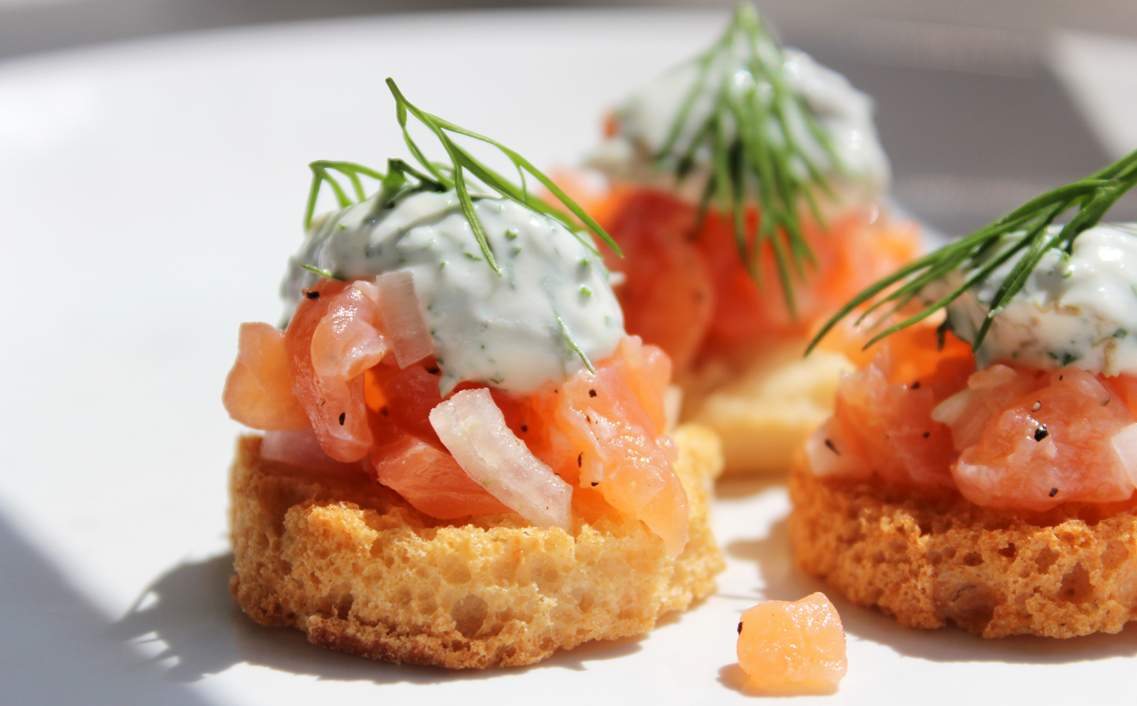 Canap s catering london event canapes london exquisite for Canape de salmon